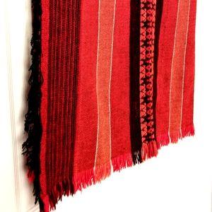 Boho Vintage Fall Wool Table Runner / Home Decor